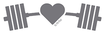 Fit Fizz barbell with heart | powerlifting | love lifting